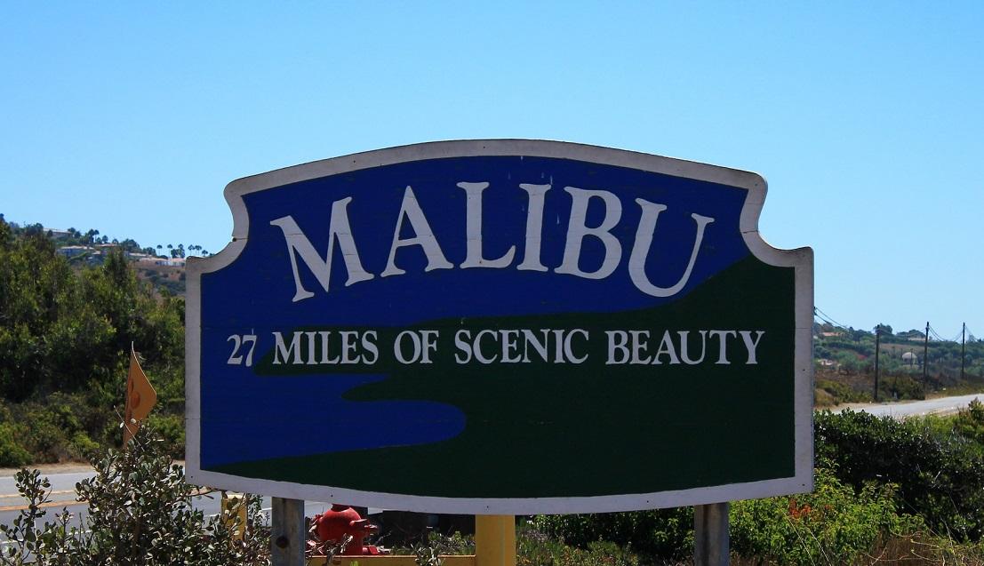 Malibu sign